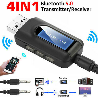 $9.98 • Buy Bluetooth 5.0 Transmitter Receiver 4 IN 1 Wireless Audio 3.5mm USB Aux Adapter
