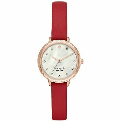 $ CDN93.79 • Buy Kate Spade NY KSW1565 Morningside Midi Red Leather Rose Gold Watch
