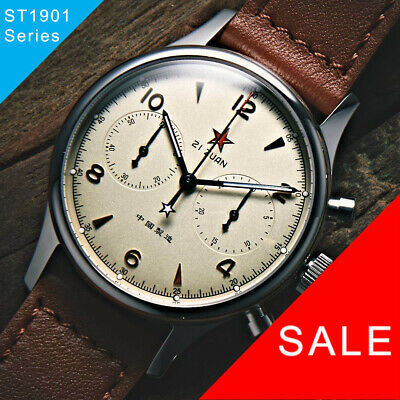 $ CDN291.69 • Buy Seagull 1963 ST1901 Venus 40mm Chronograph Sapphire, Display Back, 2 Straps BNIB