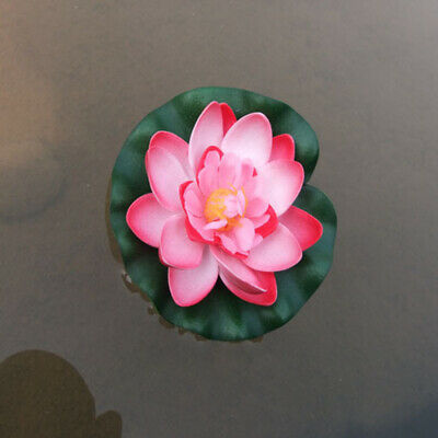 $ CDN12.42 • Buy Artificial Lotus Flower Lilly Pad Floral Pond Tank Lillies Wedding Decoration