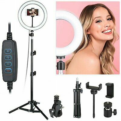 AU25.99 • Buy Dimmable LED Ring Light Lamp Selfie Camera Phone Studio Tripod Stand Photo Video