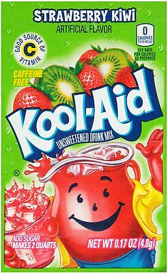 Kool Aid Strawberry Kiwi Sachet - Us Import - 3.6g - Uk Seller • 9.99£