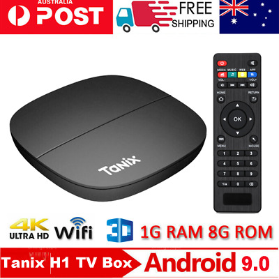 AU35.99 • Buy 2020 Tanix H1 4K TV BOX Android 9.0 Quad Core Smart Media Player USB 2.0 1GB+8GB