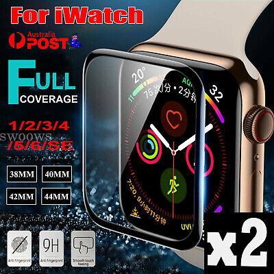 AU4.75 • Buy For Apple Watch SE 6 5 4 3 2 Tempered Glass Screen Protector Cover 38/40/42/44MM