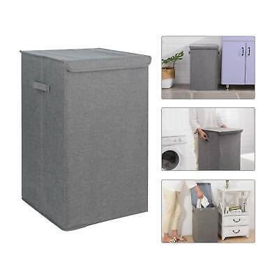 90L Large Laundry Washing Basket Folding Clothes Storage Hamper Bin Box With Lid • 13.79£