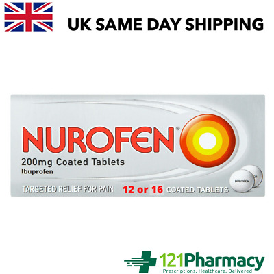 Nurafen 200mg Tablets  - 12 Or 16 | Pain Relief | Anti-Inflammatory MAX 2 PER CU • 4.29£