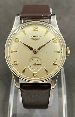 $ CDN528.44 • Buy Rare Vintage LONGINES CALATRAVA Manual Wind Watch Cal.12.68Z,Jew.17, 1950'