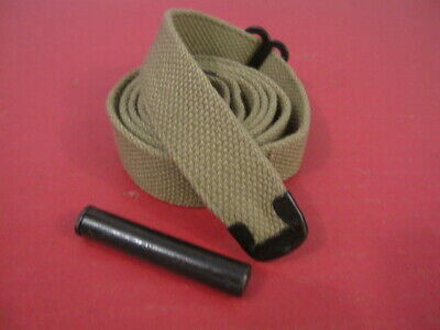 $19.99 • Buy WWII US GI M1 Carbine C-Tip OD Canvas Sling W/Oiler Dated 1943 - Reproduction