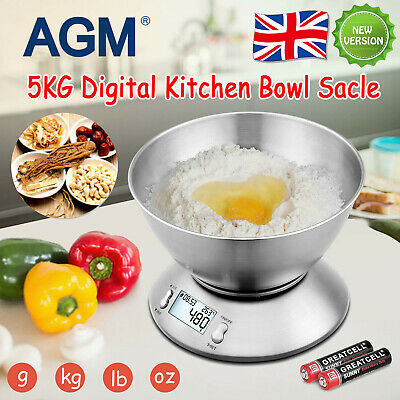 5kg Digital Lcd Kitchen Electronic Balance Bowl Scale Food Weight Postal Scales • 13.99£