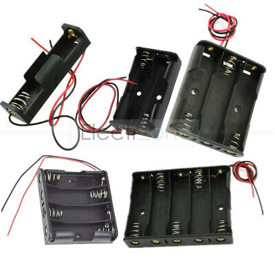 AU1.67 • Buy AA Power Battery Storage Box Case Holder W/Wire Leads 2/3/4 For 18650 New