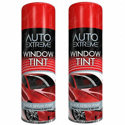 2 X AX Black Window Tint Spray Paint Aerosol Car Window Fast-Drying 300ml • 8.99£