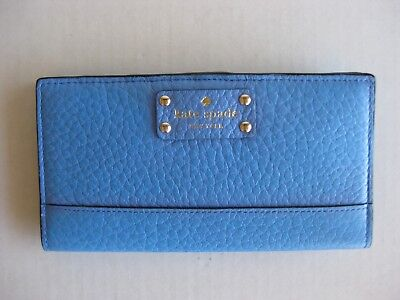 $ CDN33.95 • Buy NWT Kate Spade Stacy Bay Street Bifold Leather Wallet Color Alice Blue