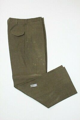 $9.99 • Buy U.s. Army M-1952 Od Shade 33 Wool Pants Size 33x33 Dated 1957