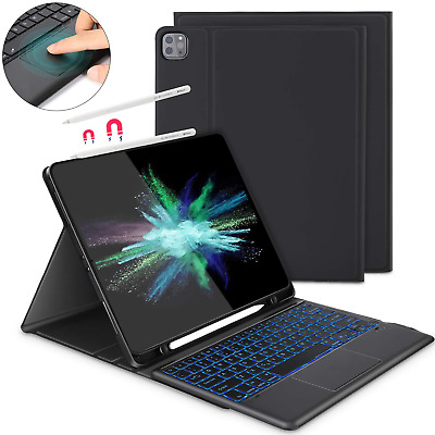 IPad Pro 12.9'' Wireless Keyboard Case 2020 W/ Touchpad Mouse Apple Smart Cover • 69.99£