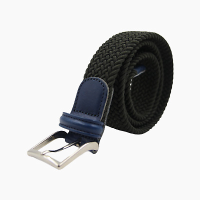 Andersons Mens Woven Textile Leather Belt Metal Buckle 75 W 30 32 34 36 Mens BNT • 44.99£