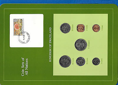 $15.74 • Buy Coin Sets Of All Nations Swaziland 1979-1982 W/card 20 Cents, 1 Lilangeni 1979