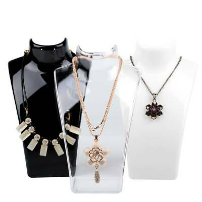 £7.99 • Buy 2Pcs Acrylic Necklace Stand Jewellery Earrings Retail Shop Display Busts Holder