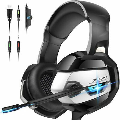 £16.99 • Buy ONIKUMA K5 Gaming Headset MIC LED For PC PS5 PS4 Pro Xbox One S Nintendo Switch
