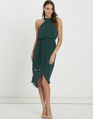 AU35.99 • Buy Size: 8(NEW) Classy Luxurious Emerald Green Midi Cocktail Party Dress Crissie