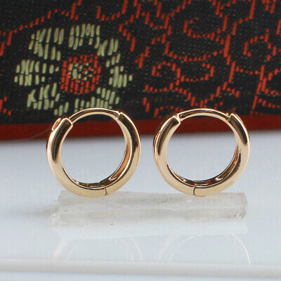 AU8.99 • Buy 12 Mm, 18k Gold Filled Unisex Huggies Hoop Solid Earrings
