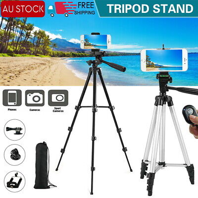AU24.31 • Buy Professional Camera Tripod Stand Mount Remote + Phone Holder For IPhone Samsung