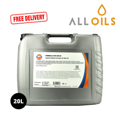 Gulf Formula CFE 5w30 Syn Engine Oil ACEA C2/C3 / MB 229.52 APPROVED 20L • 53.56£