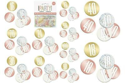 Rose Gold Table Confetti Sprinkles Milestone Birthday Ages Decorations 3 Bags • 3.49£