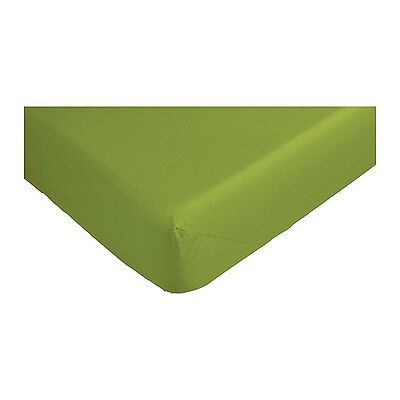 IKEA Dvala Fitted Cotton Bed Sheet UK Size - Single (90 X 190) - GREEN • 8.99£