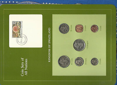 $17.85 • Buy Coin Sets Of All Nations Swaziland 1975-1982 W/card 5,20 Cents, 1 Lilangeni 1979
