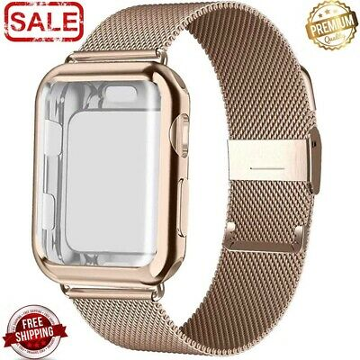 AU15.22 • Buy Milanese Loop Stainless Steel Watch Band Strap And Case For Apple Iwatch Series