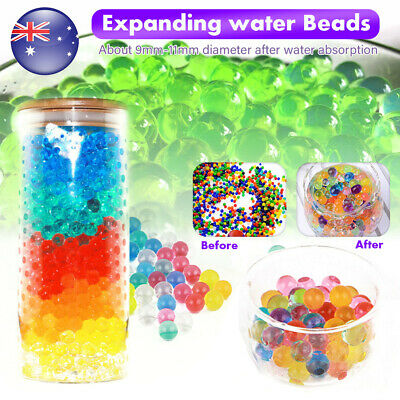 AU5.59 • Buy 10000/50000pcs Crystal Water Balls Jelly Gel Beads For Vases Orbeez MultiColor