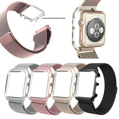 AU18.99 • Buy Milanese Metal Strap Band +case For Apple Watch Series 5 4 3 2 1 Watch 38 42MM