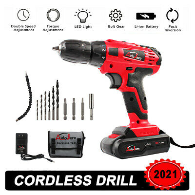 View Details 20V Max Electric Screwdriver Cordless Drill Driver Tool Li-Ion Battery 3/8 Inch • 34.94$