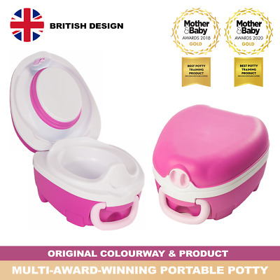 My Carry Potty Pink Travel Potty Award-Winning Portable Toddler Toilet Seat Kids • 22.95£