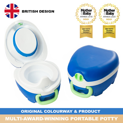 My Carry Potty Blue Travel Potty Award-Winning Portable Toddler Toilet Seat Kids • 22.95£
