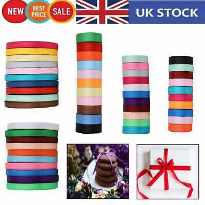 300m Double Sided Ribbon Shiny Satin Rolls For Crafting Flower Making 10/25/40mm • 12.99£