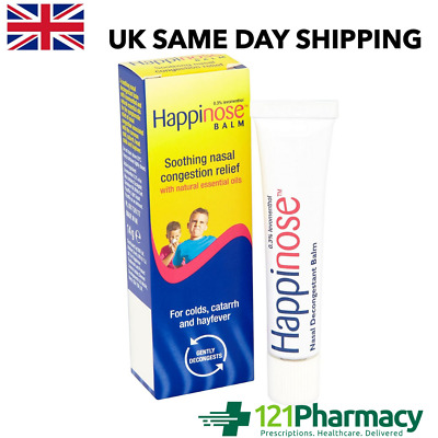 Happinose Balm Soothing Nasal Congestion Relief - 14g - COLDS CATARRH HAYFEVER • 4.79£