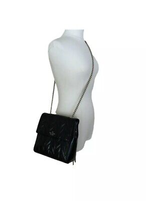 $ CDN296.64 • Buy KATE SPADE BRAYDEN BRIAR LANE Quilted Black Patent Leather MD Chain Backpack NWT