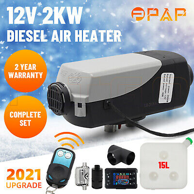 AU259 • Buy 12V 2KW Diesel Air Heater Remote Control Thermostat Caravan Motorhome 15L Tank