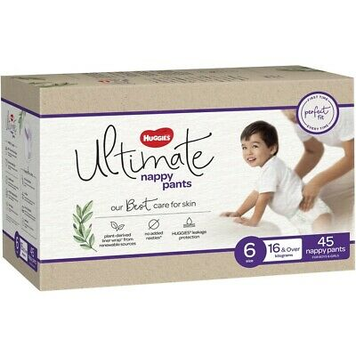 AU30 • Buy Huggies Ultimate Nappy Pants Unisex Size 6 (16+kg) 45 Pack