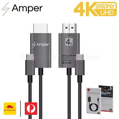AU23.95 • Buy Universal Type-C To HDMI 4K 60hz Cable 2m USB C Lead Adaptor