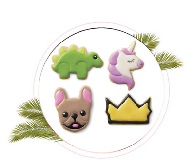 AU4.50 • Buy Set Of 4 Dog/Unicorn/Diagnosis Plastic Plunger Cutter Tool Fondant Mold AU STOCK