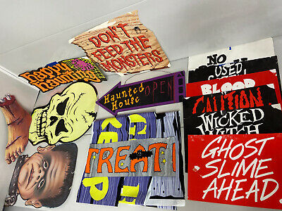 $ CDN12.58 • Buy Halloween Cut Out Decoration, Banner And Sign Lot Vintage ? D11