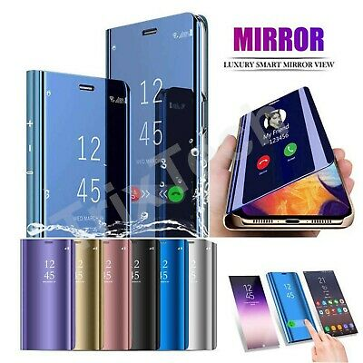 $ CDN7.68 • Buy Mirror Flip Case For Samsung Galaxy S10 S9 S8 S7 Slim Leather Stand Phone Cover