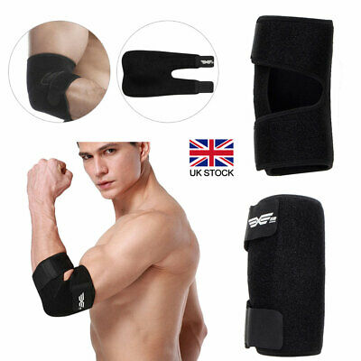 Gym Tennis Golfer Elbow Support Brace Strap Pain Relief Easy Fit Elasticated UK • 6.39£