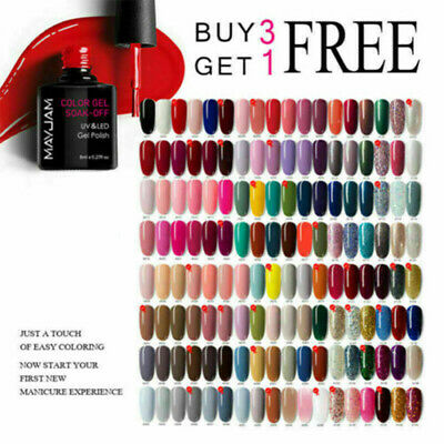 MAYJAM Nail Gel Polish Soak Off UV LED Colour Glitter Base Top Coat Varnish DIY • 2.99£