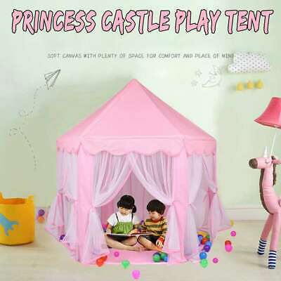 Princess Castle Play Tent Fairy Girls Boys Playhouse House Toy Gift For Children • 19.99£