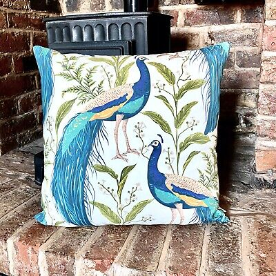910. Large Peacock 100% Cotton Cushion Cover • 15£