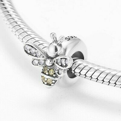 💖💖  Bee Honey Stopper Spacer Genuine S925 Sterling Silver Charm Bead 💖💖 • 13.99£