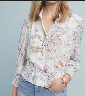 $ CDN63.87 • Buy Anthropologie Maeve Paint By Number Top Xs Nwt